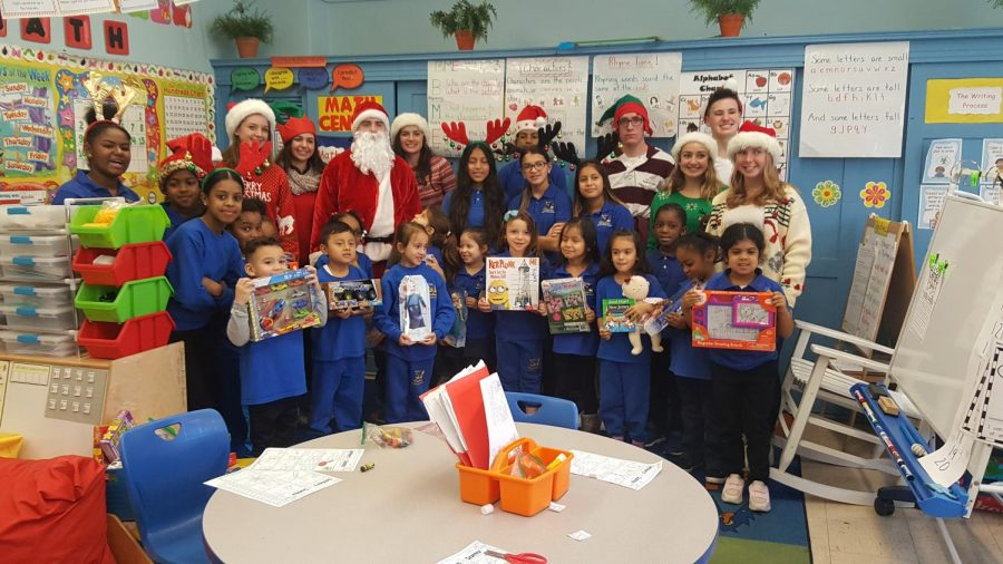 VHS Students Brings Toys and Joy to Hawkins School