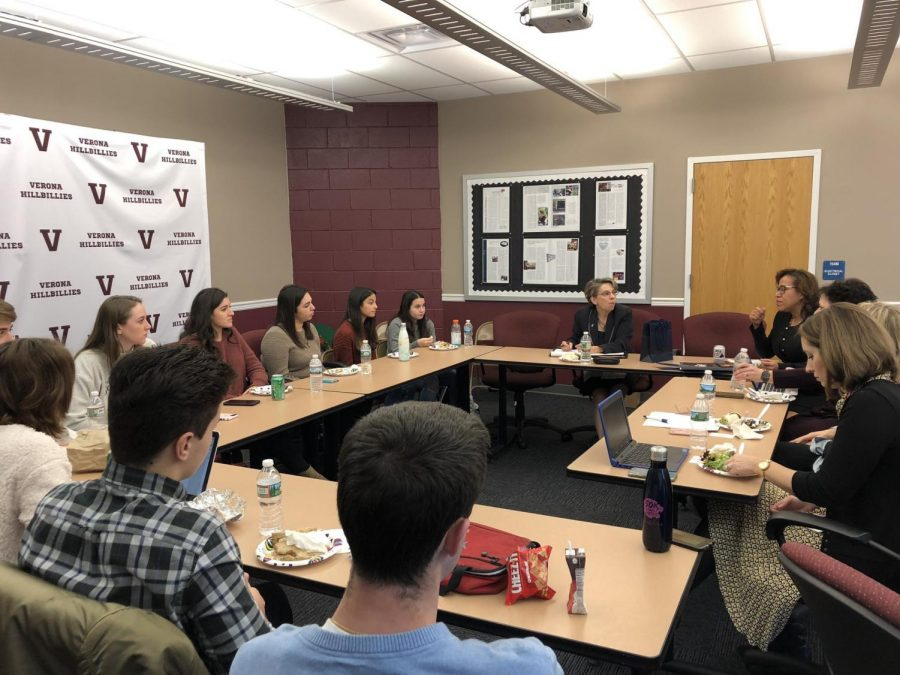 TCNJ president and Verona Alumna Speaks to VHS Students